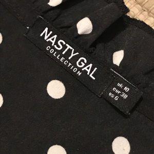 Nasty Gal Pants & Jumpsuits - Black polka dot romper ✨